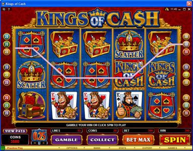Play slots at Casino Mate: Casino Mate featuring the Video Slots Kings of Cash with a maximum payout of $500,000