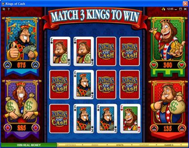 Yukon Gold featuring the Video Slots Kings of Cash with a maximum payout of $500,000