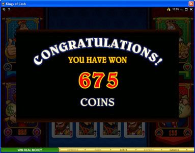 Zodiac featuring the Video Slots Kings of Cash with a maximum payout of $500,000