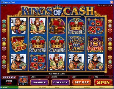 Play slots at 21 Jackpots: 21 Jackpots featuring the Video Slots Kings of Cash with a maximum payout of $500,000