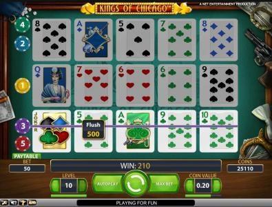 flush 500 coin big win jackpot