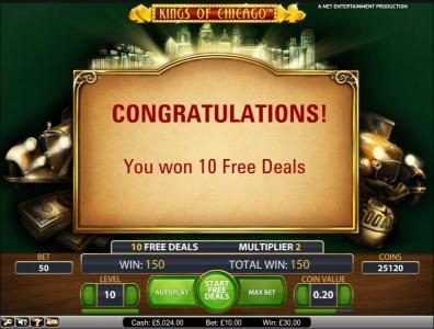 Playgrand featuring the Video Slots Kings of Chicago with a maximum payout of $10,000