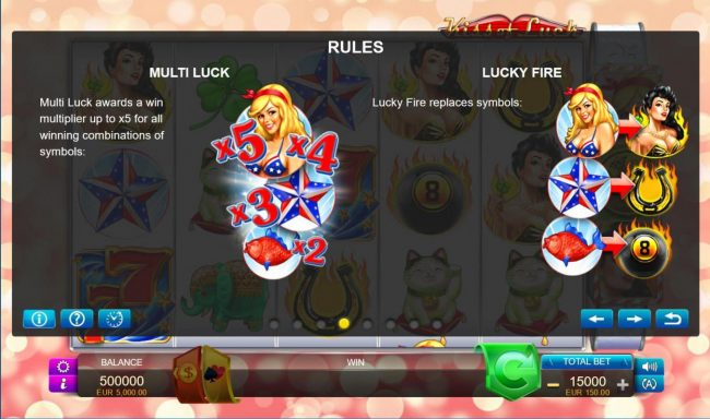 Kiss of Luck :: Multi Luck and Lucky Fire Rules