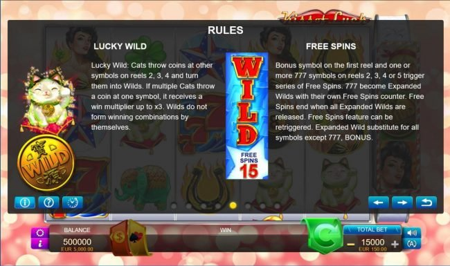 Kiss of Luck :: Lucky Wild and Free Spins Rules