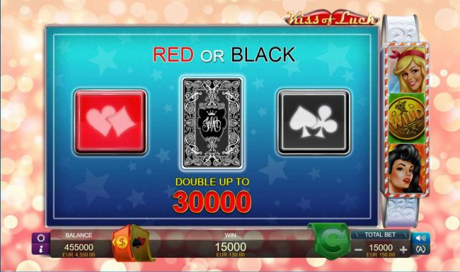 Kiss of Luck :: Gamble Feature Game Board