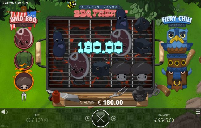 Kitchen Drama BBQ Frenzy :: A 180 credit big win