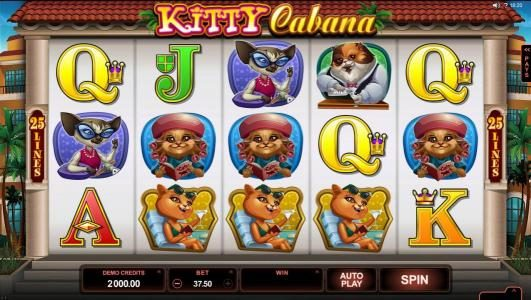 Play slots at Aztec Ritces: Aztec Ritces featuring the Video Slots Kitty Cabana with a maximum payout of $110,000