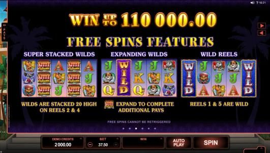 Casino Action featuring the Video Slots Kitty Cabana with a maximum payout of $110,000