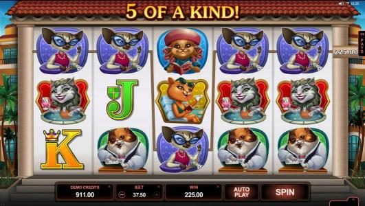 Crazy vegas featuring the Video Slots Kitty Cabana with a maximum payout of $110,000