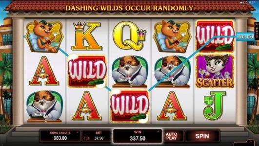 King Neptunes featuring the Video Slots Kitty Cabana with a maximum payout of $110,000
