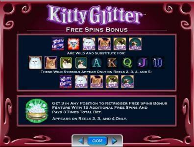free spins bonus wild symbols and rules