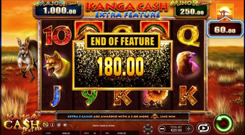 Kanga Cash Extra :: Total Free Spins Payout