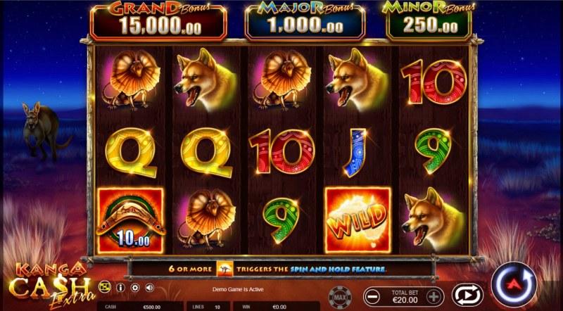 Kanga Cash Extra :: Main Game Board