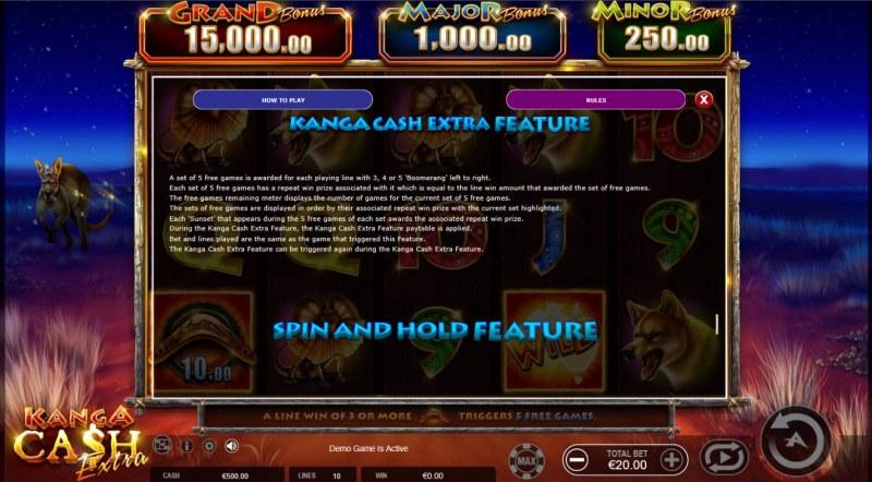 Kanga Cash Extra :: Kanga Cash Feature