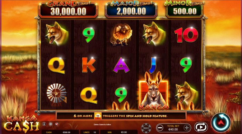 Kanga Cash :: Main Game Board