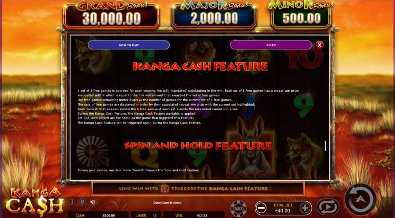 Kanga Cash :: Kanga Cash Feature
