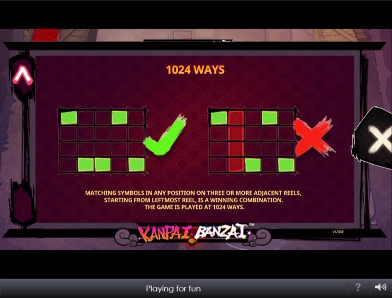 Kanpai Banzai :: 1024 Ways to Win