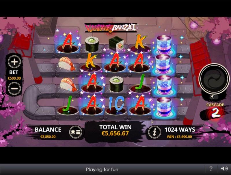 Kanpai Banzai :: Multiple winning combinations lead to a big win