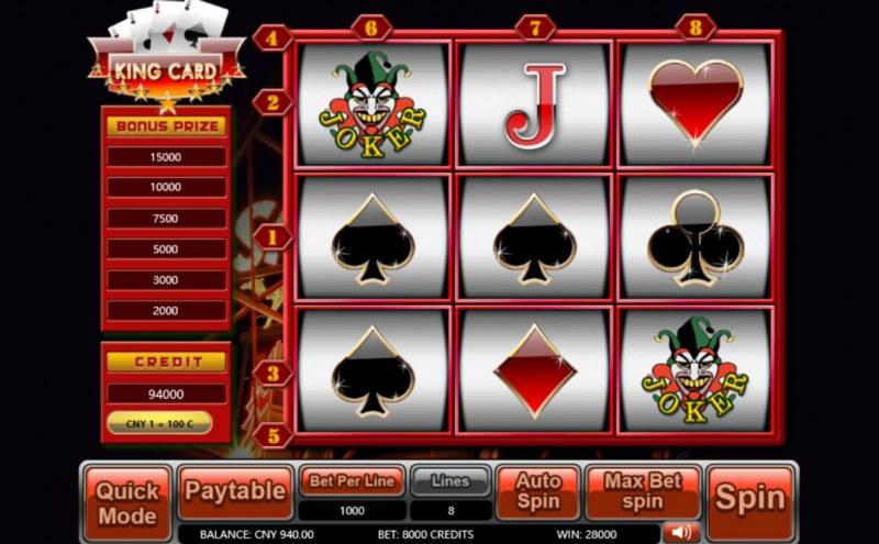 King Card :: Main Game Board