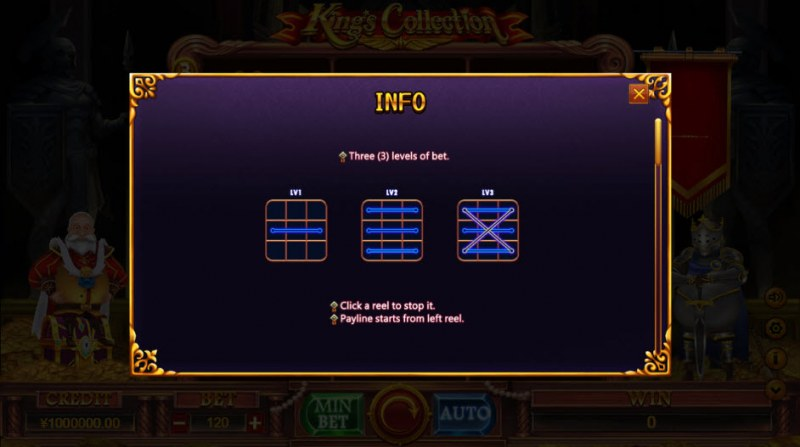 King Collection :: Three levels of bet