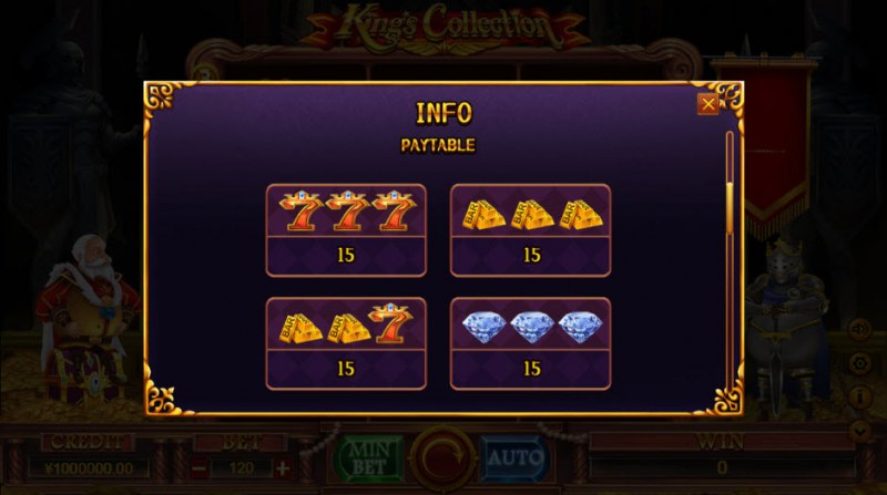 King Collection :: Paytable - High Value Symbols
