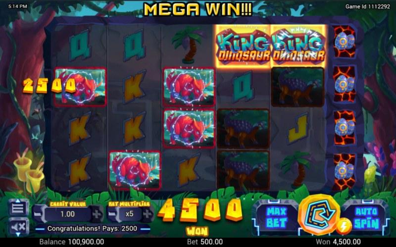 King Dinosaur :: Multiple winning combinations lead to a big win