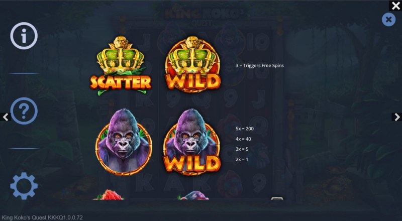 King Koko's Quest :: Wild Symbol Rules