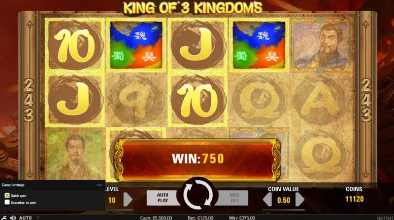 King of 3 Kingdoms :: Multiple winning combinations