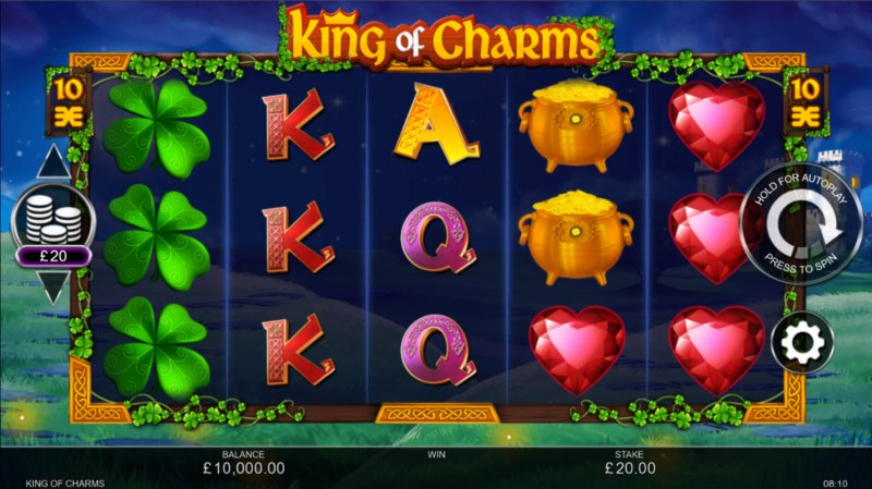King of Charms :: Base Game Screen