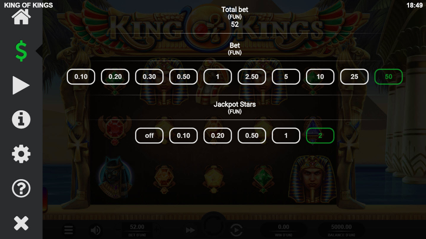 King of Kings :: Available Betting Options