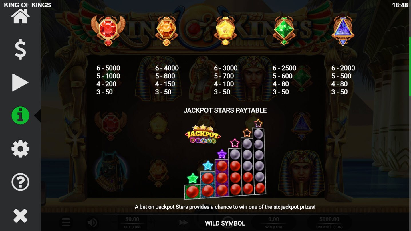 King of Kings :: Paytable - Low Value Symbols