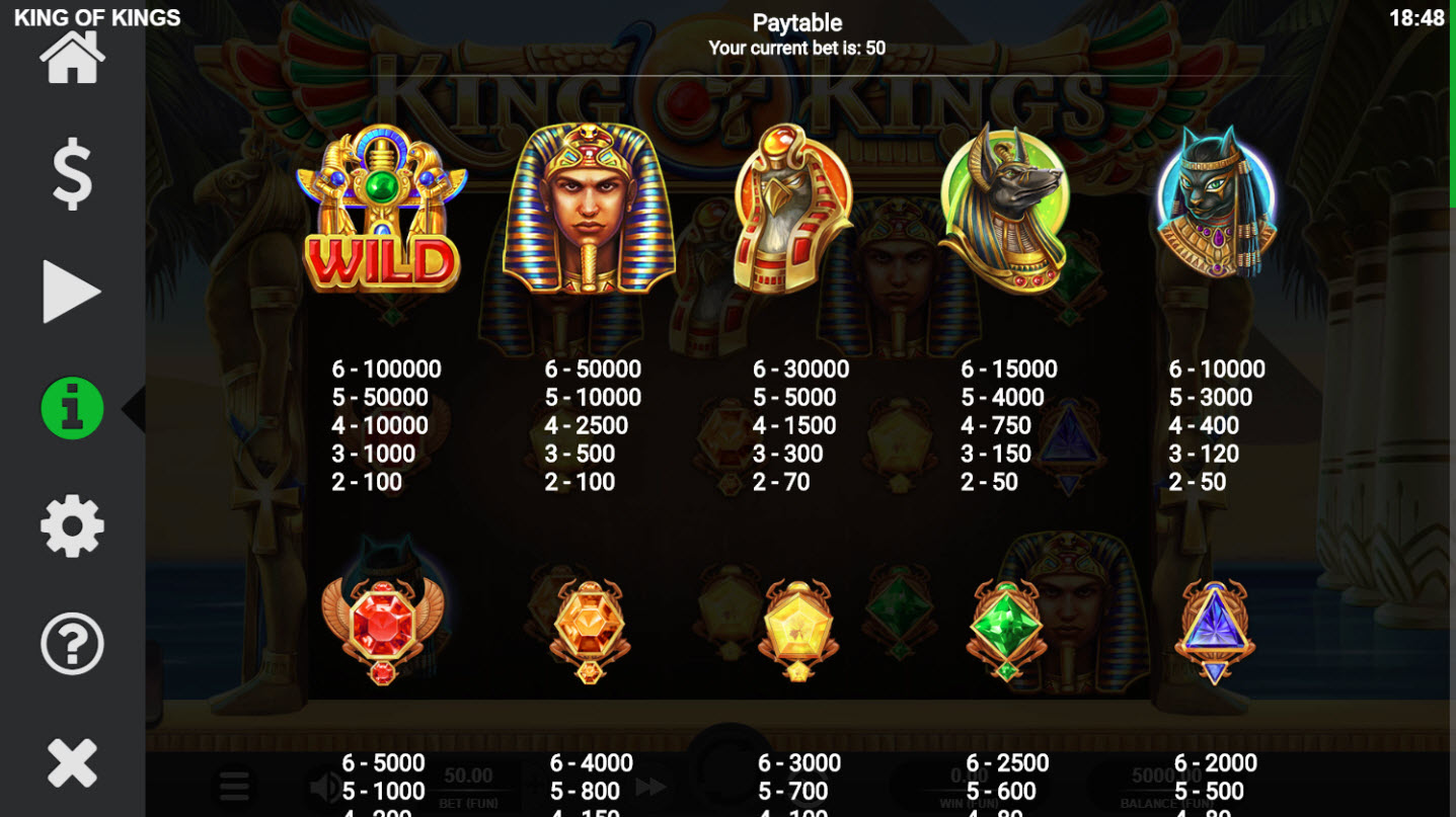 King of Kings :: Paytable - High Value Symbols