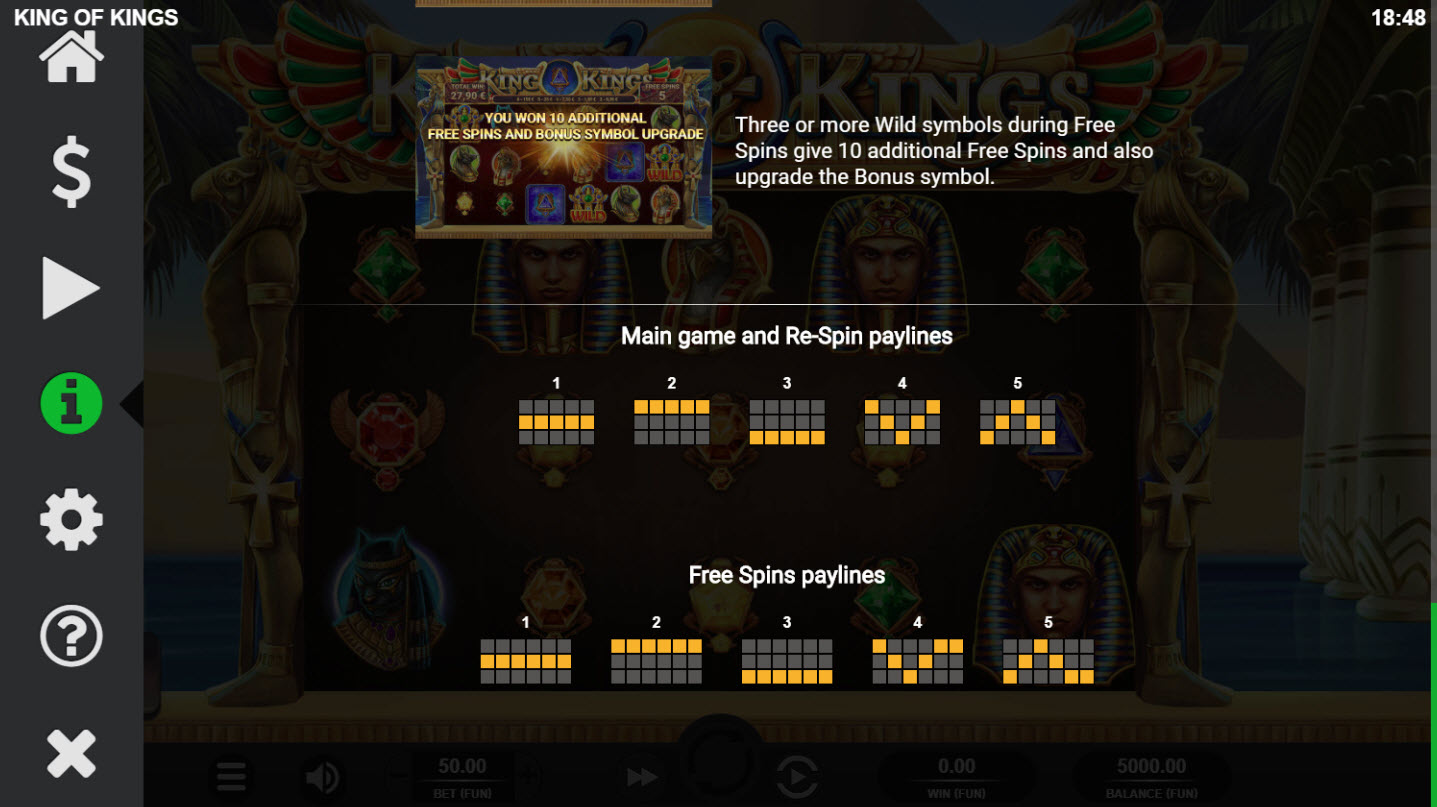 King of Kings :: Paylines 1-5