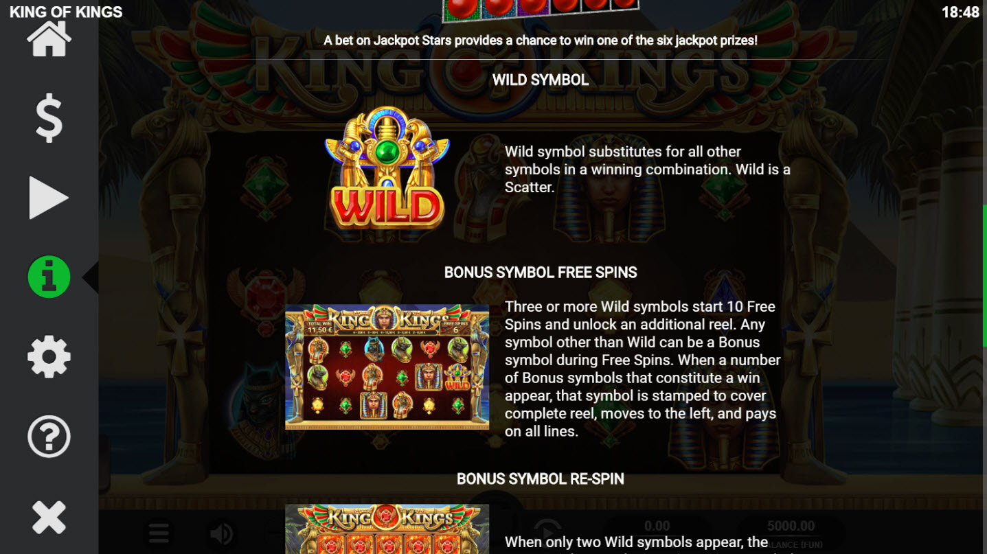 King of Kings :: Wild Symbols Rules