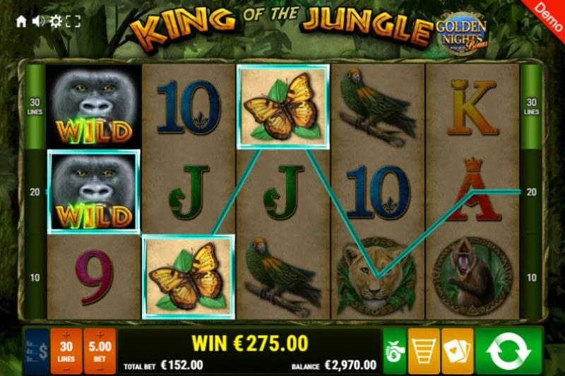 King of the Jungle Golden Nights Bonus :: Multiple winning paylines
