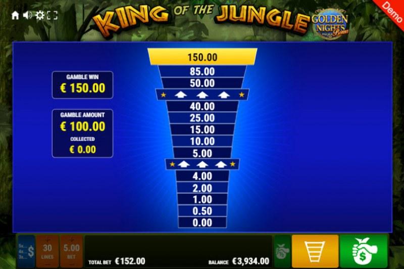 King of the Jungle Golden Nights Bonus :: Ladder Gamble Feature