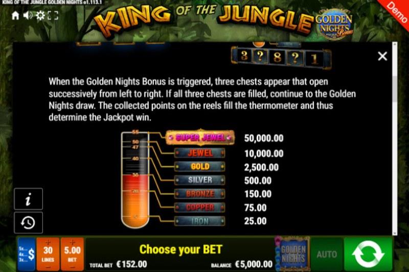 King of the Jungle Golden Nights Bonus :: Bonus Game Rules