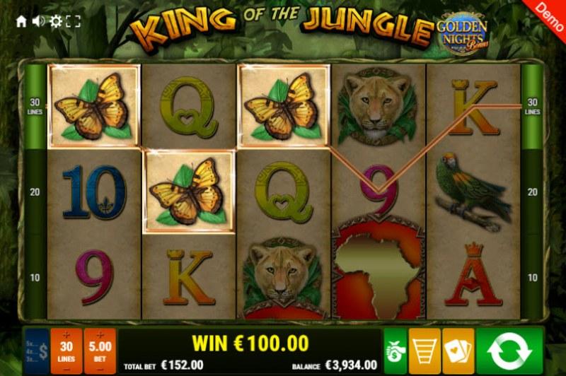 King of the Jungle Golden Nights Bonus :: Three of a kind