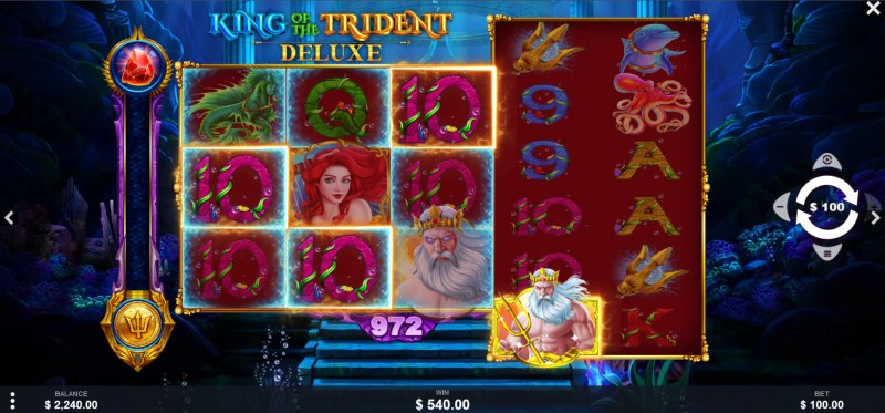 King of the Trident Deluxe :: Multiple winning combinations