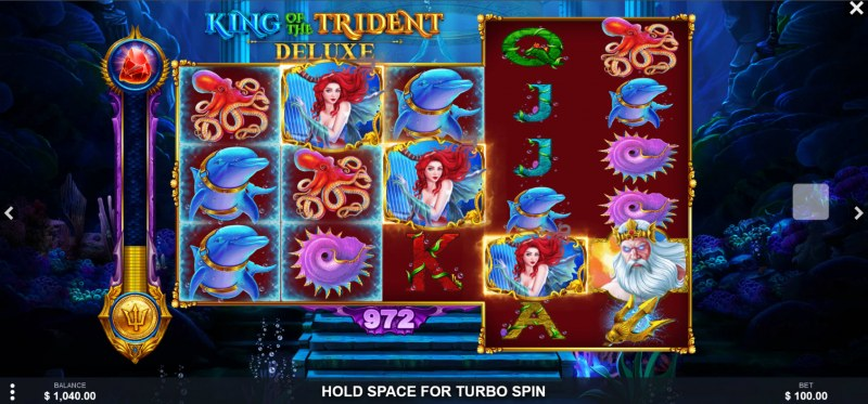 King of the Trident Deluxe :: Scatter symbols triggers the free spins bonus feature