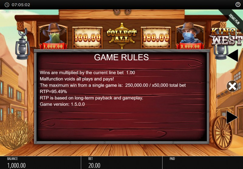 King of the West :: General Game Rules