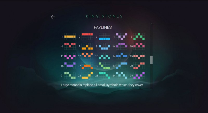 King Stones :: Paylines 1-25