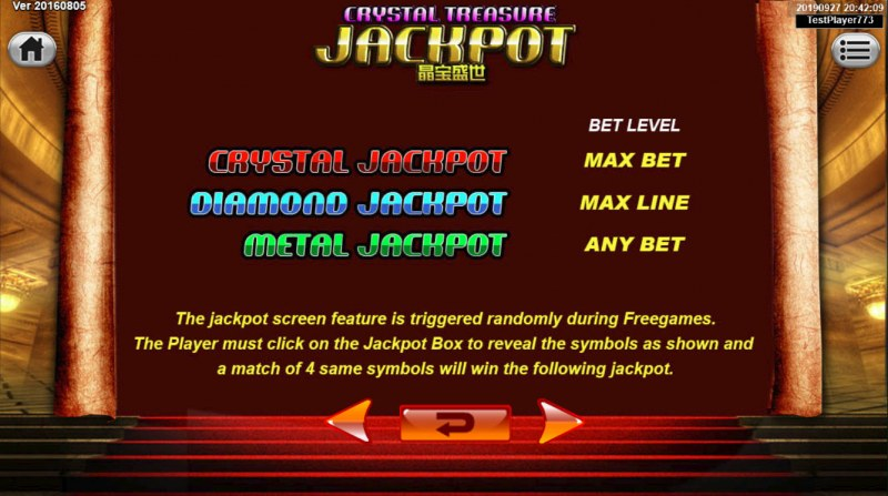 King the Lionheart :: Jackpot Rules