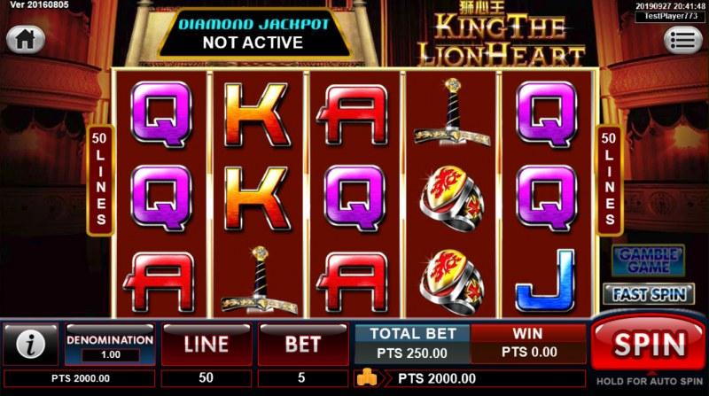 King the Lionheart :: Main Game Board