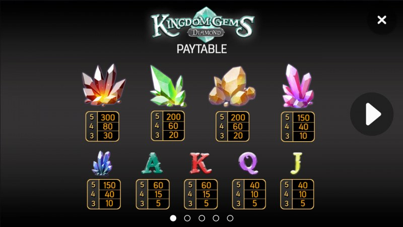 Kingdom Gems Diamond :: Paytable