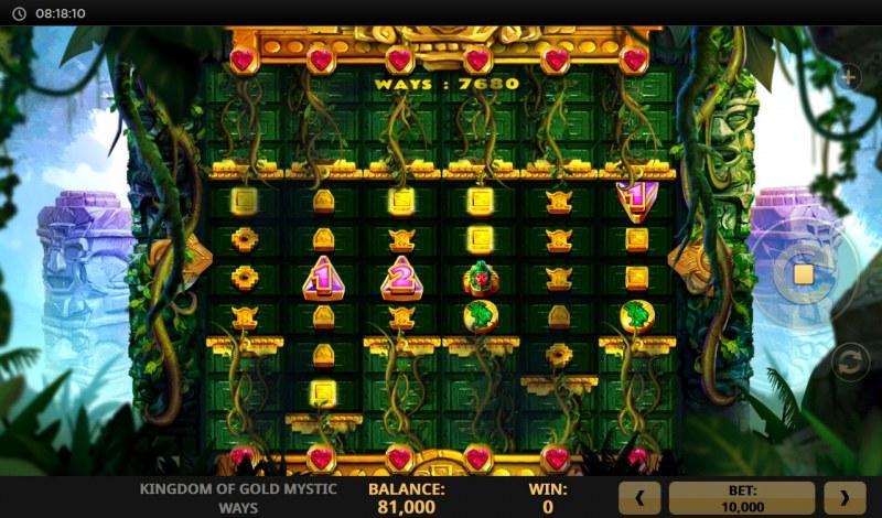 Kingdom of Gold Mystic Ways :: Reels expand after landing arrow symbols