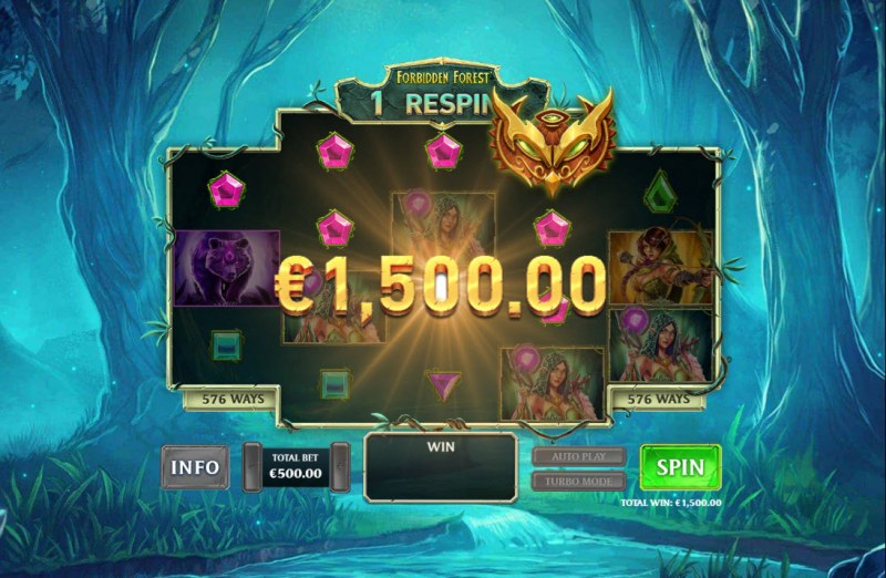 Kingdom Rise Forbidden Forest :: A four of a kind win