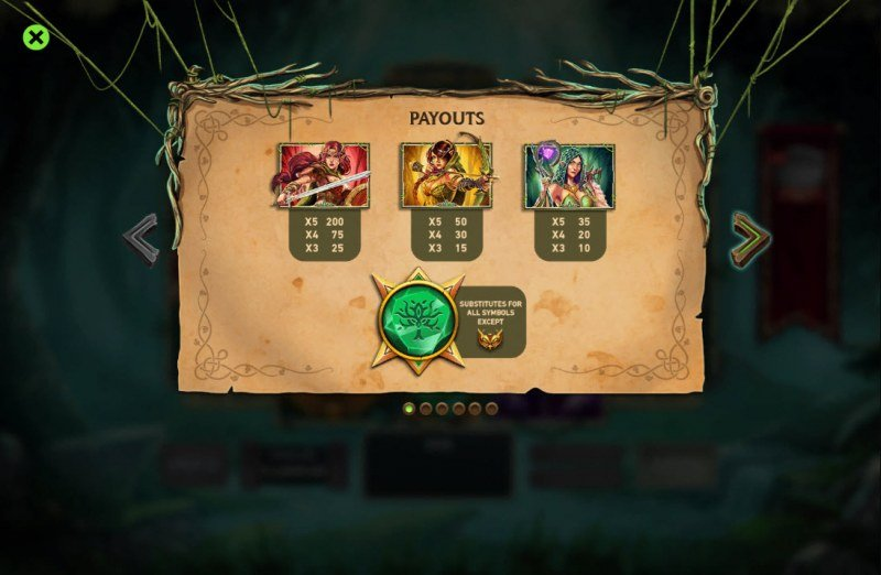 Kingdom Rise Forbidden Forest :: Paytable - High Value Symbols