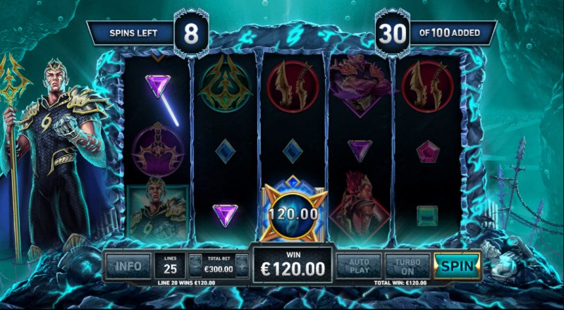 Kingdom Rise Guardians of the Abyss :: A three of a kind win
