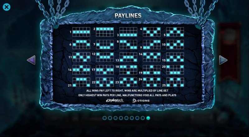 Kingdom Rise Guardians of the Abyss :: Paylines 1-25